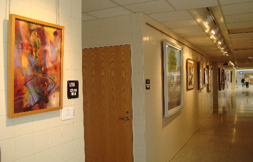 My painting in the hallway of the Greater Latrobe High School