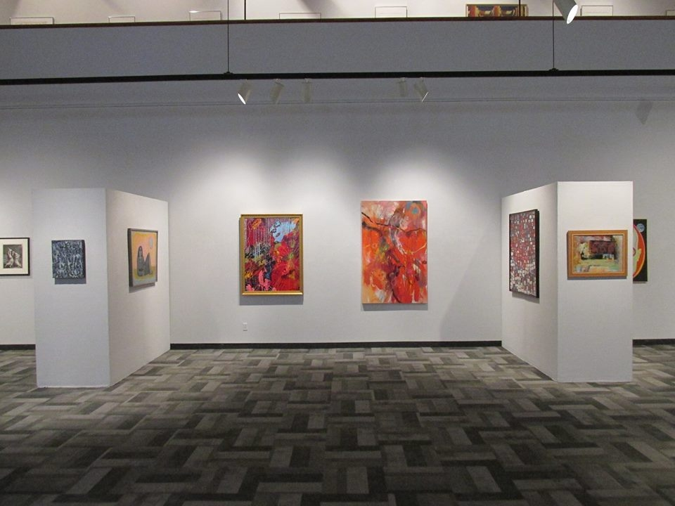 """Flight of the Faerie Queen"" on exhibit in ""Arriving in Style: Recent Acquisitions of the Southern Alleghenies Museum of Art."" Photo by V. Scott Dimond"