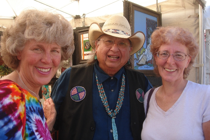 Okay, this picture is actually from an art fair in Tucson 2015, but we all looked exactly the same in 2016. Photo by Minda Bernstein