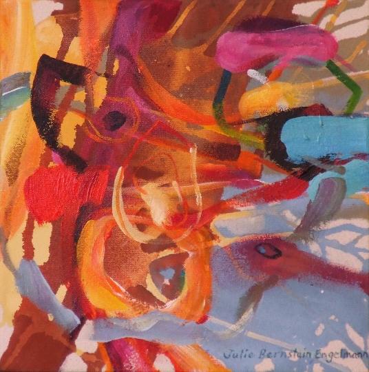 "Dream of Weavings & Wealth, by Julie Bernstein Engelmann 12""Hx12""W"